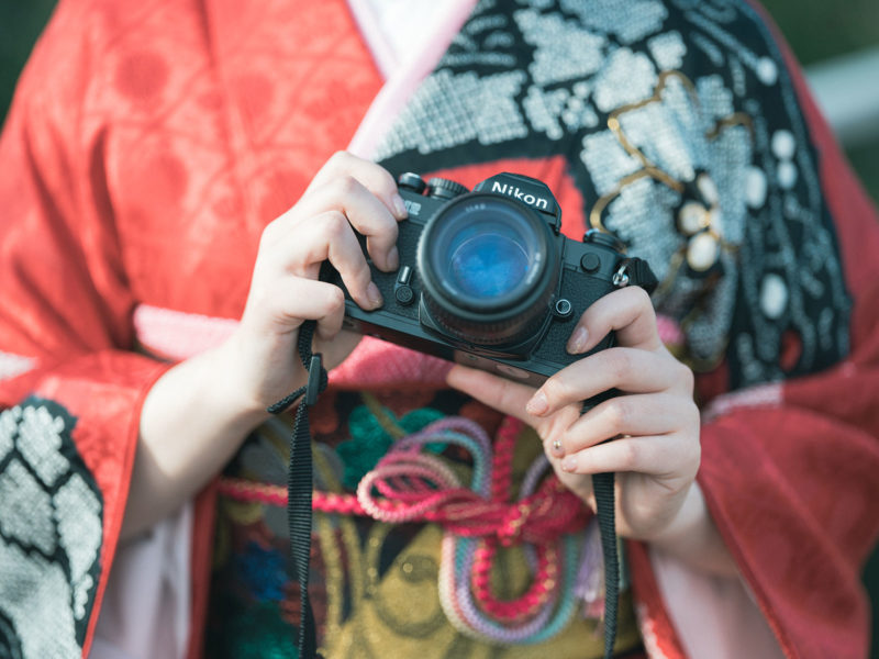 成人式、振袖、あずささん!フィルムカメラ、Nikon