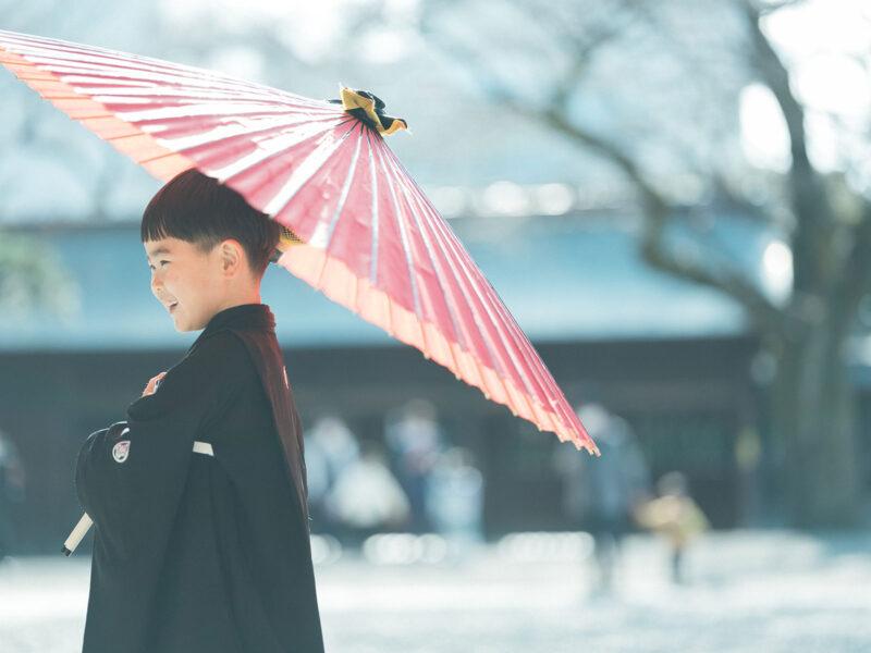 宇都宮二荒山神社、5歳七五三、ロケ、りんのすけくん!番傘