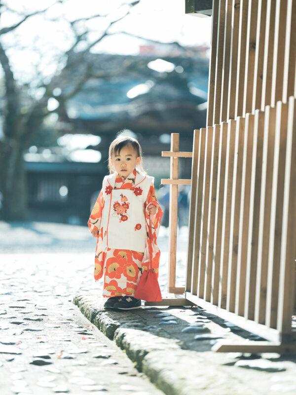 宇都宮二荒山神社、3歳七五三ロケ、あこちゃん!可愛い