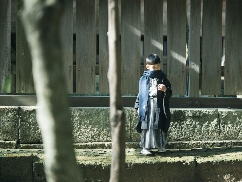 宇都宮二荒山神社、5歳七五三、ロケ、りんのすけくん!お洒落ストールコーデ