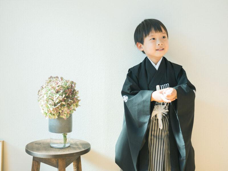 5歳七五三、ひなたくん!紫陽花、ウィルマンベース