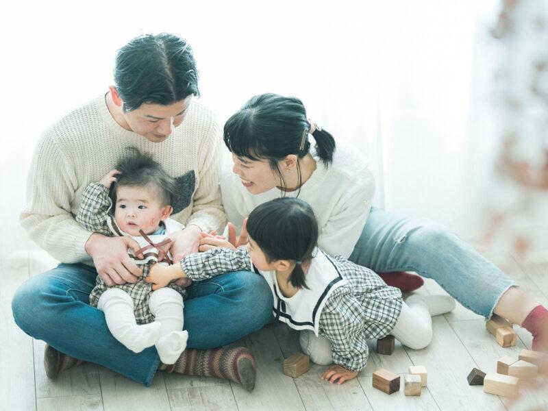 2歳バースデーフォト、いちかちゃん!家族写真