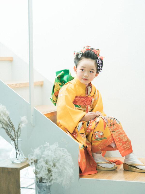7歳七五三、あかりちゃん!日本髪
