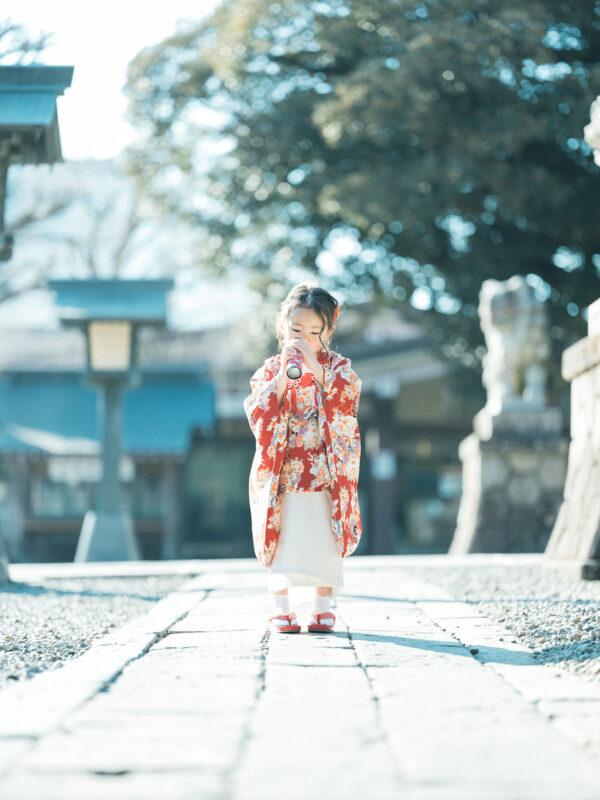 宇都宮二荒山神社ロケ、3歳七五三、まひろちゃん!万華鏡
