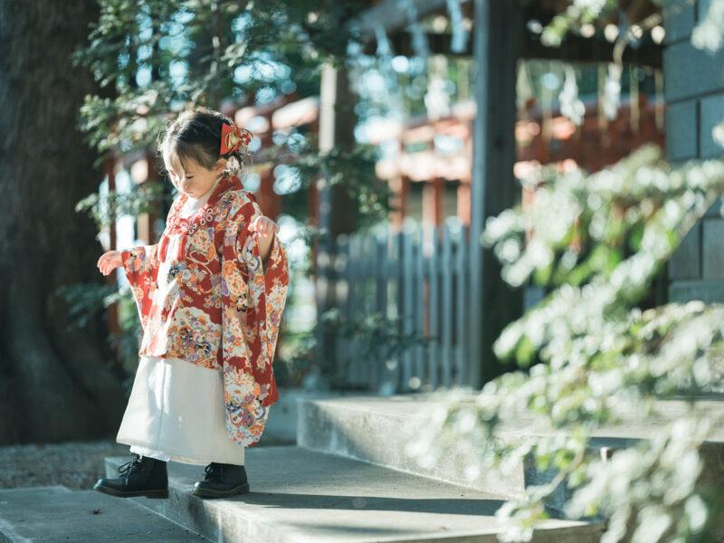 宇都宮二荒山神社ロケ、3歳七五三、まひろちゃん!ブーツコーデ