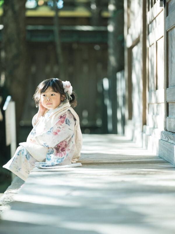 宇都宮二荒山神社ロケ、3歳七五三、さなちゃん!お洒落な着物
