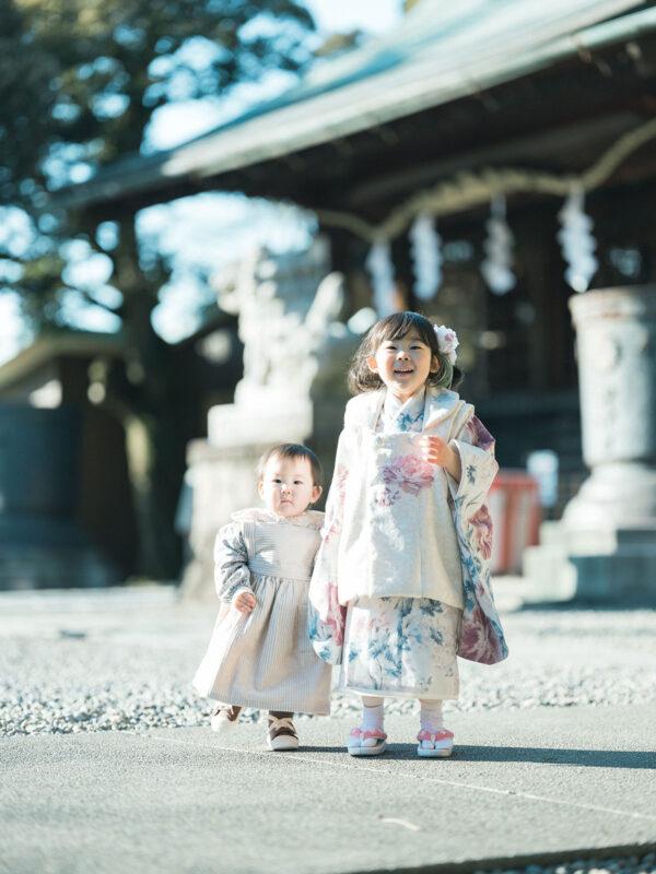 宇都宮二荒山神社ロケ、3歳七五三、さなちゃん!姉妹写真
