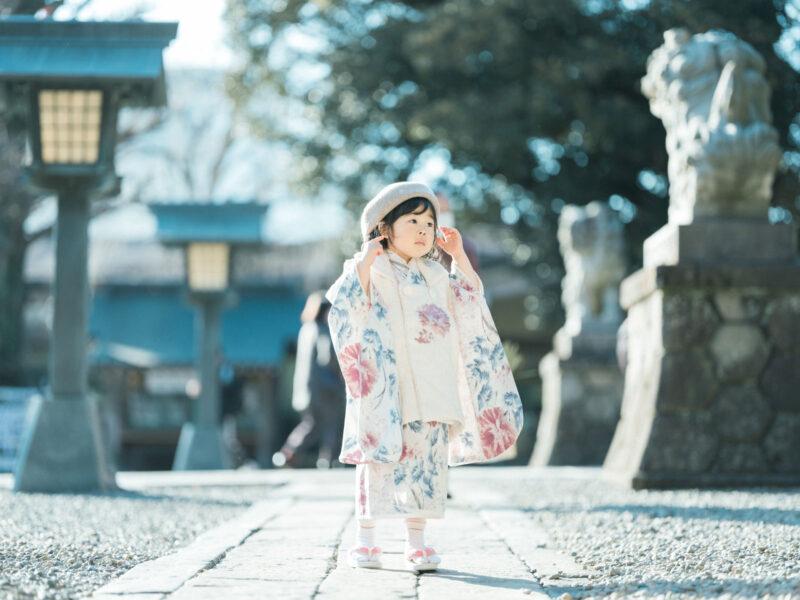 宇都宮二荒山神社ロケ、3歳七五三、さなちゃん!ベレー帽コーデ