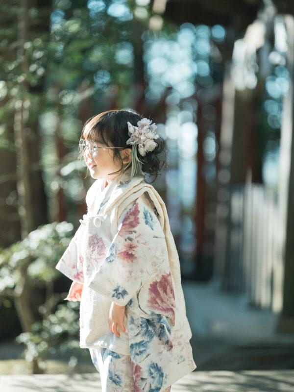宇都宮二荒山神社ロケ、3歳七五三、さなちゃん!お洒落メガネ