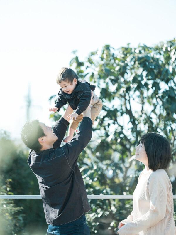 1歳バースデーフォト、いぶきくん!家族写真、お揃いコーデ
