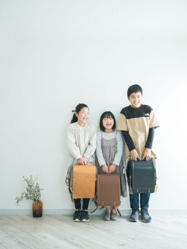 入学記念、このめちゃん!兄弟写真、土屋鞄のランドセル