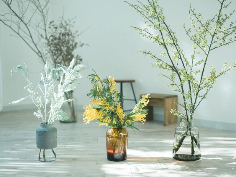 Willmann Vase、Troll Vase、Flora Vase、枝物を飾る、ミモザとその他