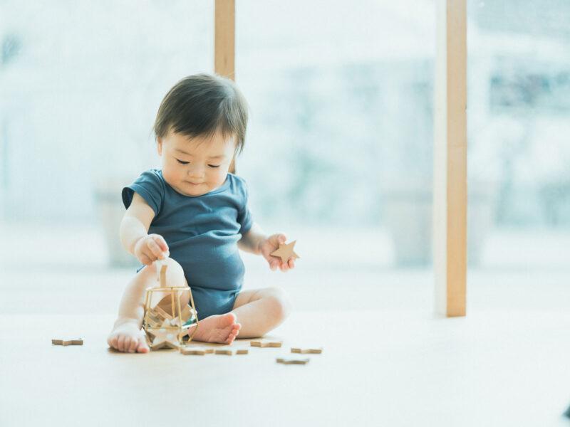 1歳バースデーフォト、あきとくん!