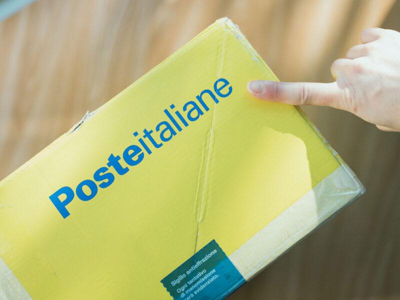 イタリアからニューボーンフォトの布を購入、Posteitaliane