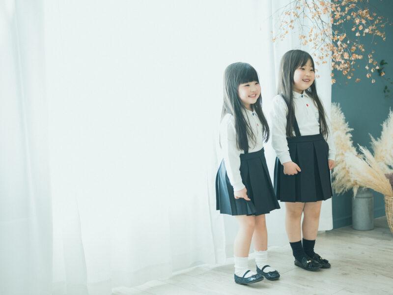 入園、卒園、姉妹写真、園児服