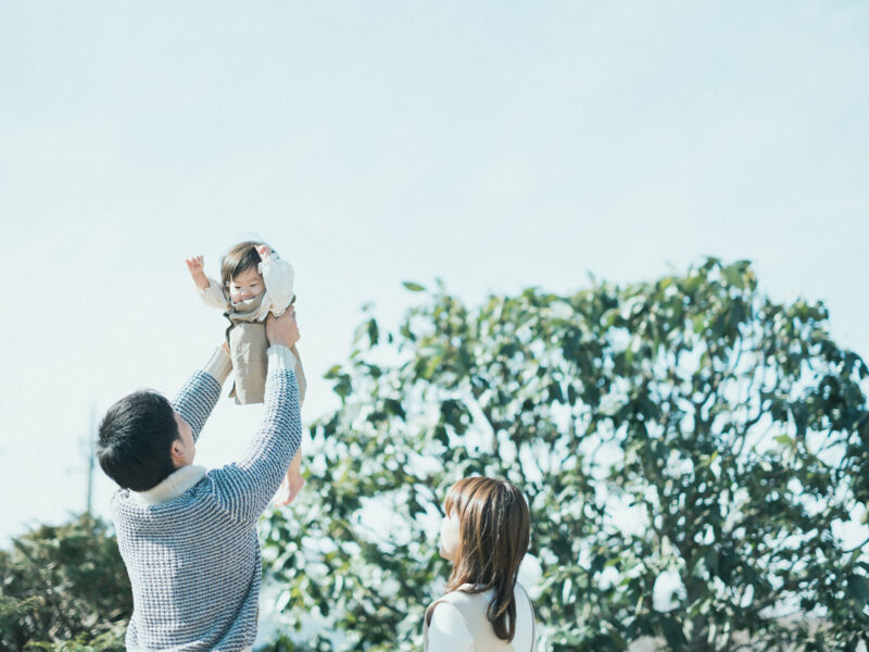 1歳バースデーフォト、ななみちゃん!家族写真