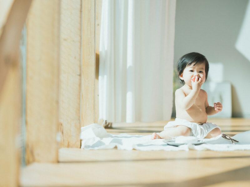 1歳バースデーフォト、ななみちゃん!スマッシュケーキ