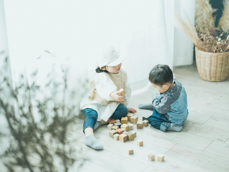 1歳バースデーフォト、みねくん!兄弟写真