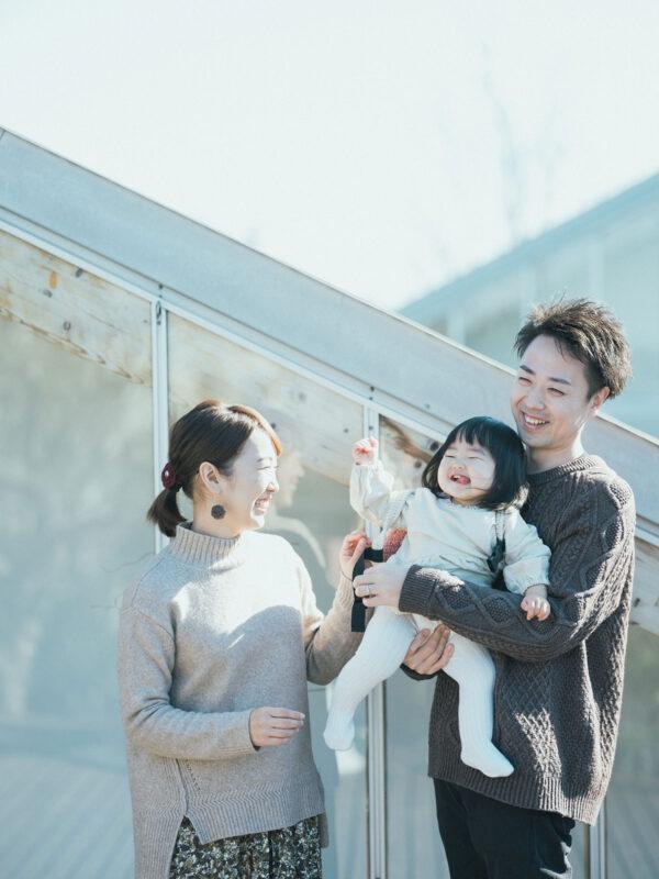 1歳バースデーフォト、ことはちゃん!家族写真