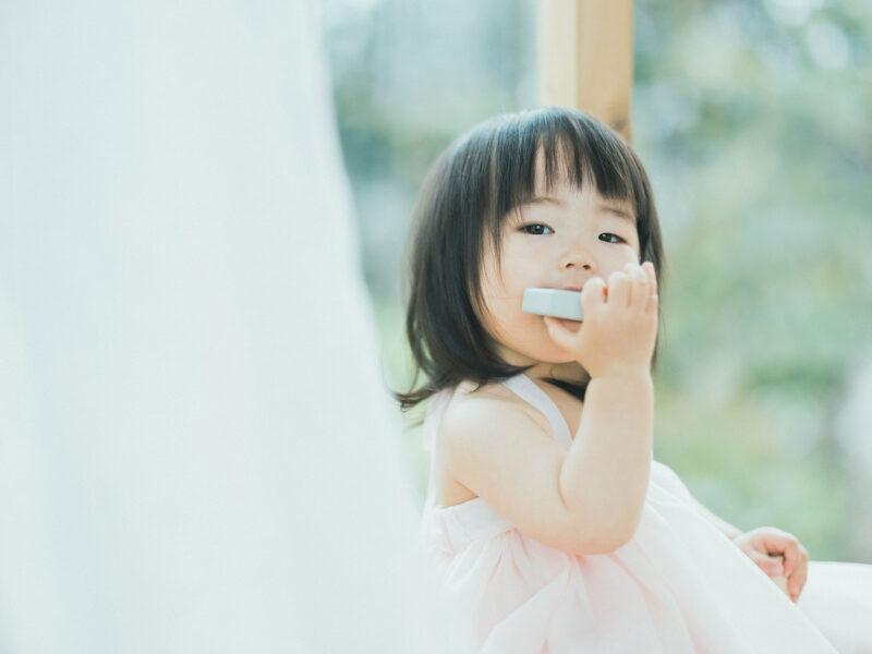 1歳バースデーフォト、ことはちゃん!ドレス