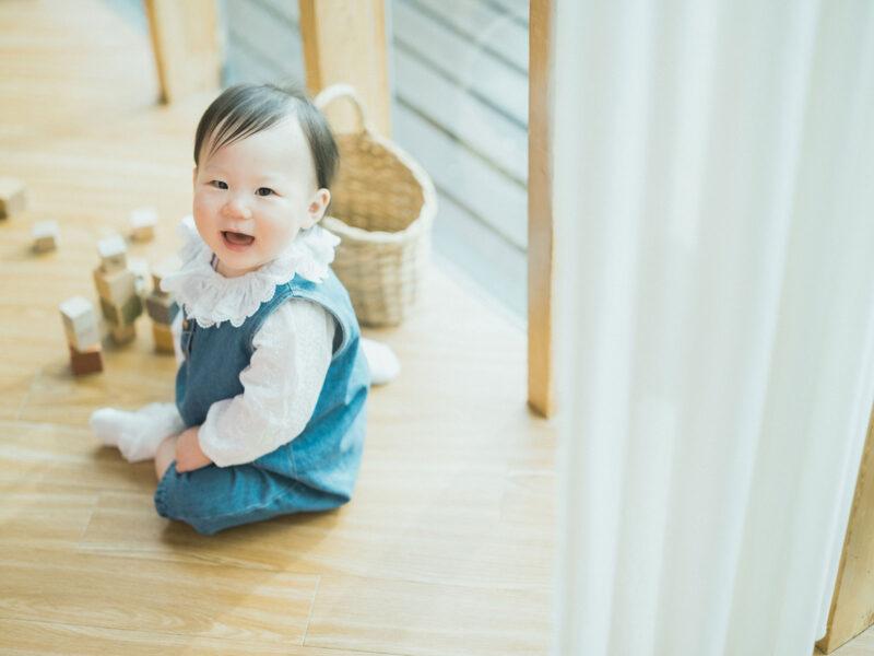 1歳バースデー、さくらちゃん!積み木