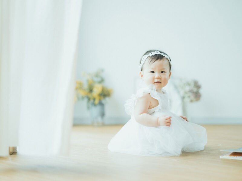 1歳バースデー、さくらちゃん!ドレス