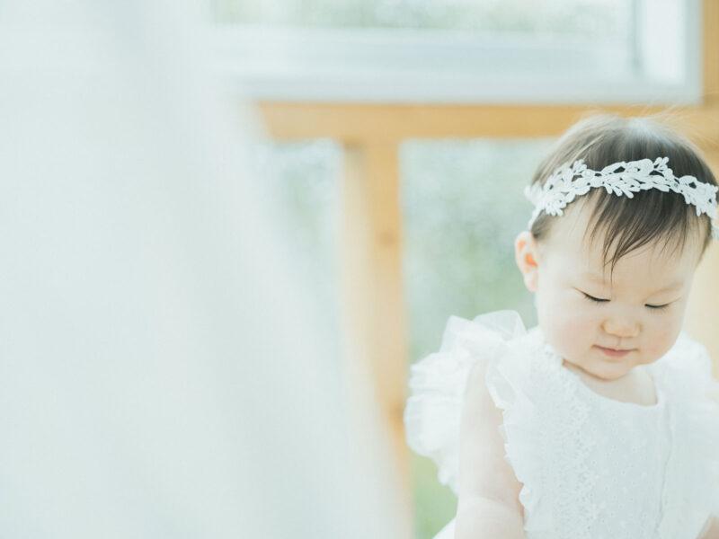 1歳バースデー、さくらちゃん!可愛いヘッドパーツ