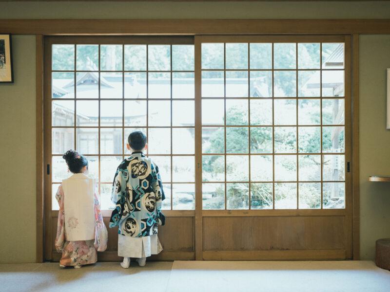 日光二荒山神社、七五三ロケ!5歳七五三こうたろうくん、3歳七五三ほのかちゃん、後ろ姿