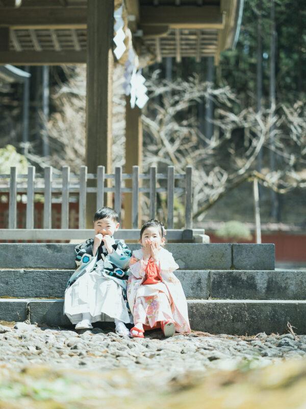 日光二荒山神社、七五三ロケ!5歳七五三こうたろうくん、3歳七五三ほのかちゃん、兄弟写真