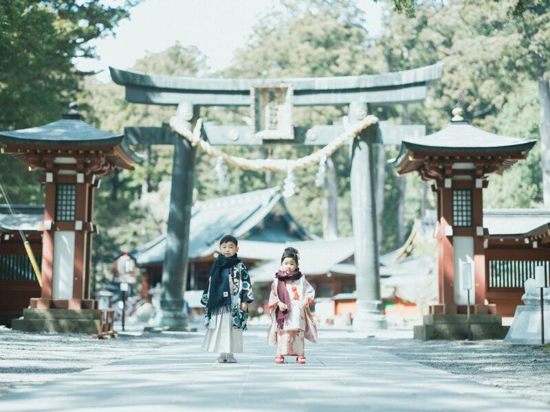 日光二荒山神社、七五三ロケ!5歳七五三こうたろうくん、3歳七五三ほのかちゃん、お洒落ストールコーデ