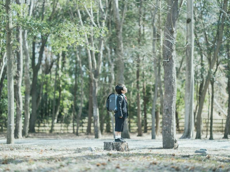 みずほの自然の森公園、入学記念ロケ、こうちゃん!森