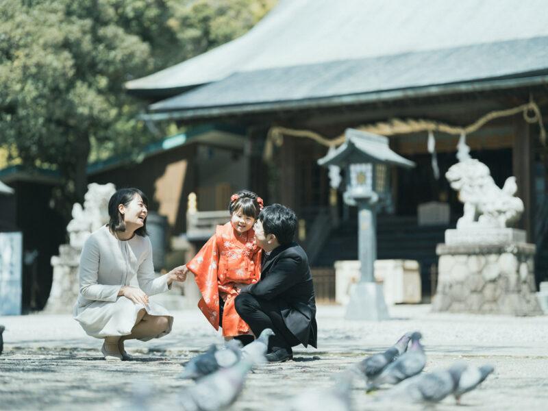 宇都宮二荒山神社ロケ、3歳七五三、さくらちゃん!家族写真