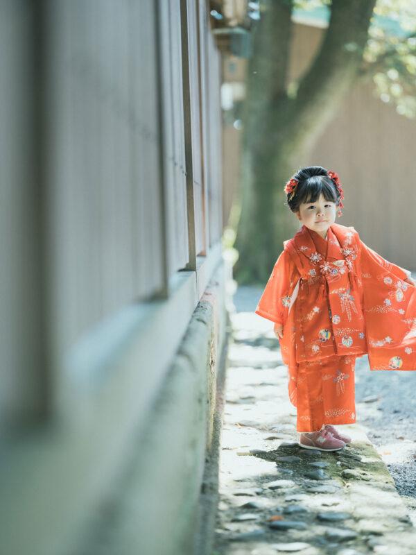 宇都宮二荒山神社ロケ、3歳七五三、さくらちゃん!