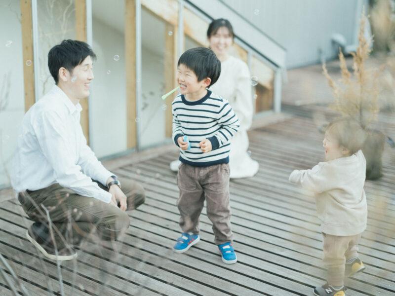 入園記念、こうたくん!家族写真