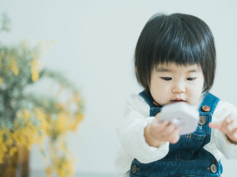 1歳バースデー、りおちゃん!積み木」