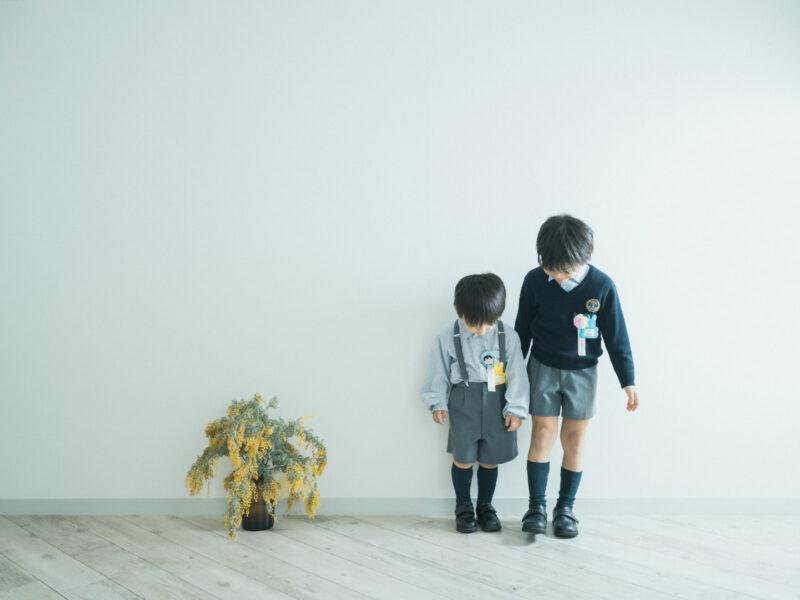 卒園、入学記念、しょうへいくん!兄弟写真