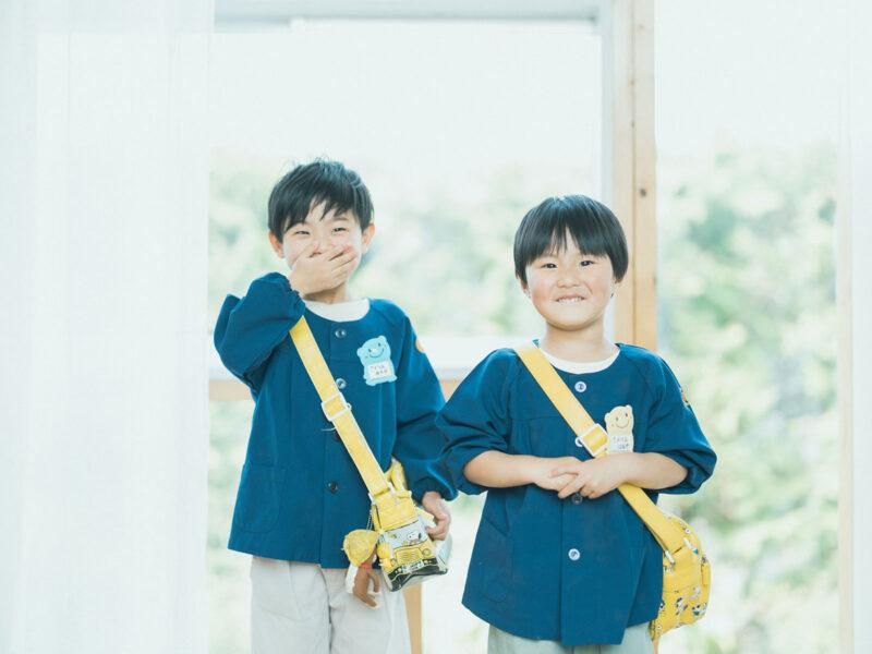 卒園、入学、ゆきやくん!園児服、兄弟写真