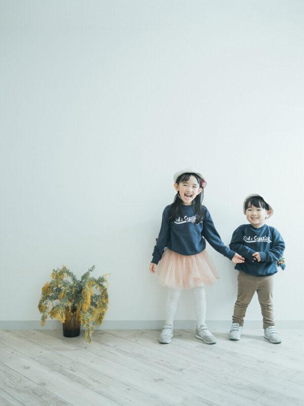 入学記念写真、りおんちゃん!兄弟写真