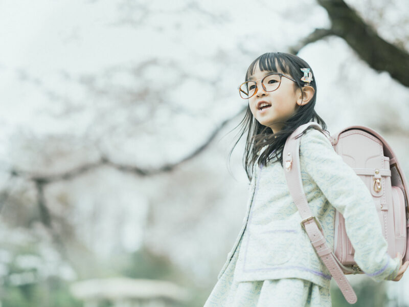 入学記念写真、りおんちゃん!