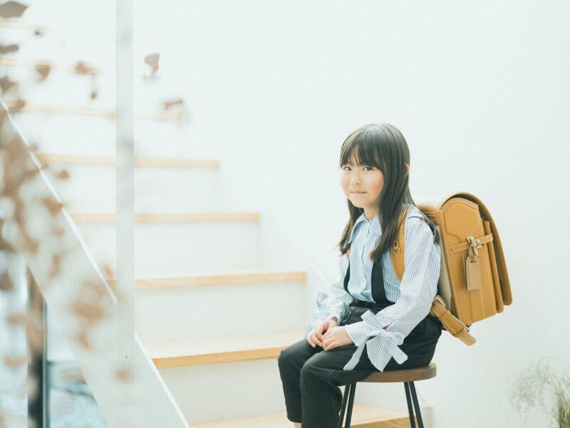 入学、えなちゃん!お洒落なカラーのランドセル