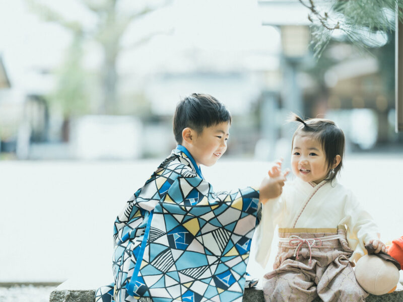 宇都宮二荒山神社、5歳七五三ロケ、えいたくん!兄弟写真