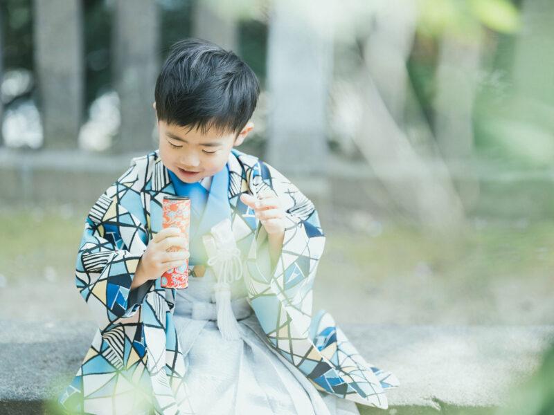 宇都宮二荒山神社、5歳七五三ロケ、えいたくん!万華鏡