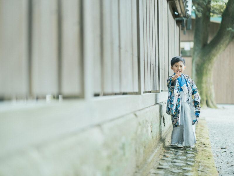 宇都宮二荒山神社、5歳七五三ロケ、えいたくん!