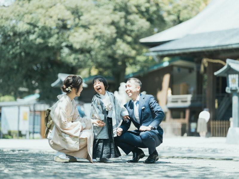 宇都宮二荒山神社、七五三ロケ、5歳七五三、あさひくん!家族写真