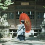 宇都宮二荒山神社、七五三ロケ、5歳七五三、あさひくん!番傘