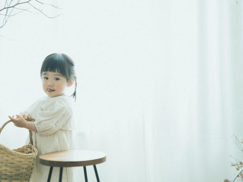 2歳バースデーフォト、かのんちゃん!ぺこちゃん