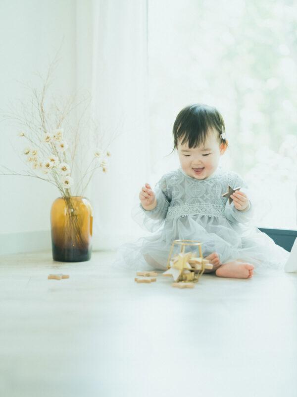 1歳バースデーフォト、ゆらちゃん!kiko+