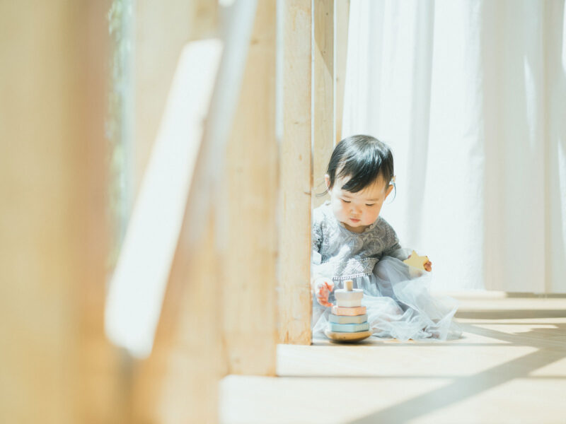 1歳バースデーフォト、ゆらちゃん!ナチュラル