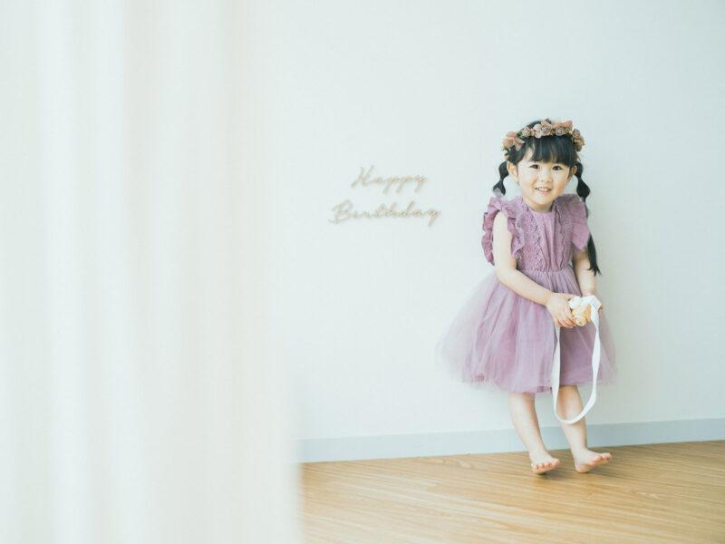 3歳バースデーフォト、ことはちゃん!可愛い