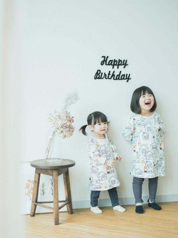 3歳バースデーフォト、ふうかちゃん!姉妹写真、ミッフィー